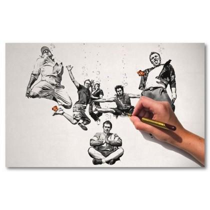 Αφίσα (διασκέδαση, μαύρο, λευκό, άσπρο)